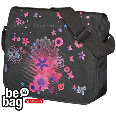Torba be.bag pink butterfly