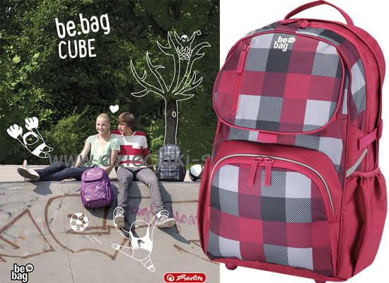 8a34fa1b49202 Plecak HERLITZ Be.Bag CUBE KARO BURGUND. 113506750001 a.jpg.  113506750001 a.jpg  113506750001 a1.jpg