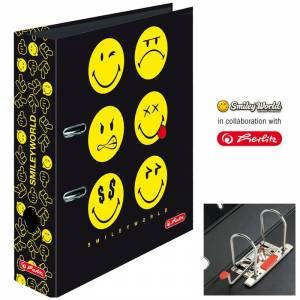 Segregator Herlitz A4/8 cm SMILEY WORLD BLACK max.file