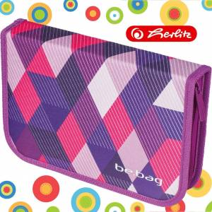 Piórnik bez wyposażenia PURPLE CHECKED Be.Bag Herlitz