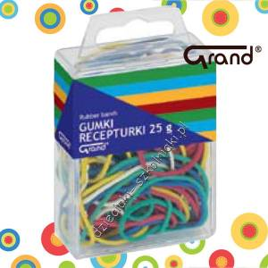 Gumki recepturki kolorowe 50 mm Grand 25g