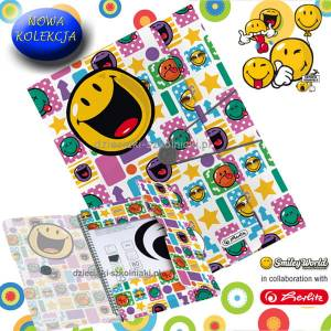 Teczka z gumką A4 PP SMILEY HAPPY HERLITZ