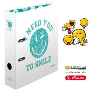 Segregator Herlitz A4/8 SMILEY WHITE maX.file