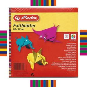 Papier do origami 10 kolorow 20x20 cm HERLITZ