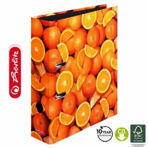 Segregator Herlitz maX.file A4/8cm World of Fruit POMARAŃCZE