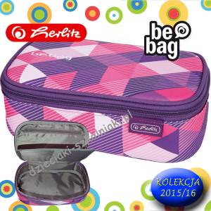 Piórnik Etui HERLITZ be.bag BEAT BOX PURPLE CHECKED