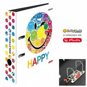 Segregator Herlitz A4/8 cm SMILEY WORLD RAINBOW max.file