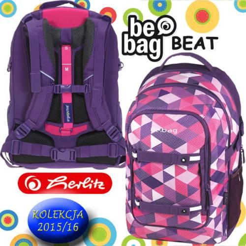 84a745baaebd5 Plecak szkolny Be.Bag BEAT PURPLE CHECKED Herlitz - Dzieciaki Szkolniaki