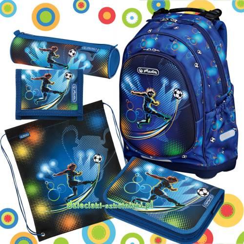 30e3024a034c0 Plecak Herlitz BLISS Soccer PLUS zestaw 5w1 - Dzieciaki Szkolniaki