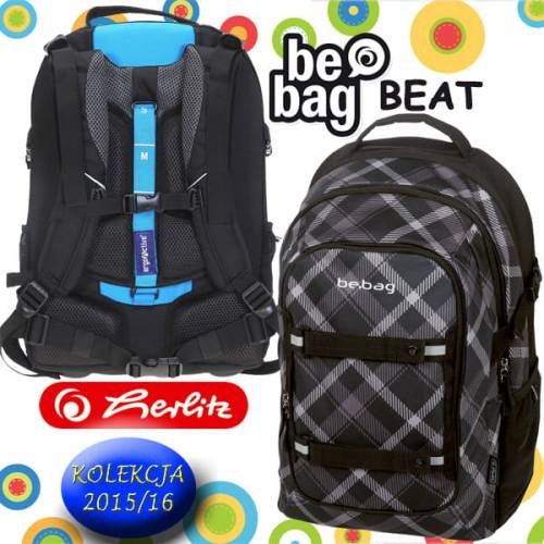 b80d1f190ae89 Plecak szkolny Be.Bag BEAT BLACK CHECKED Herlitz 2015 - Dzieciaki ...