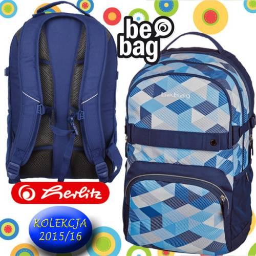 a429b03f09a58 Plecak szkolny Be.Bag CUBE Blue Checked Herlitz. 11410123_PLECAK SZK_BE_BAG CUBE  BLUE NEW CHECKED_a.jpg